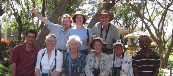 The group photo on the last day on the way to the airport! © Callan cohen www.birdingafrica.com